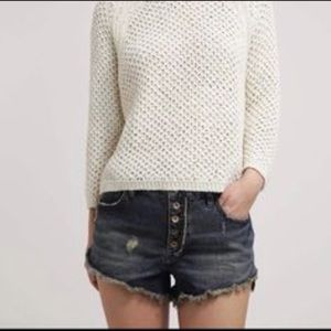NWT Free People cut off jean shorts